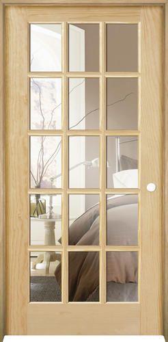 X Ready To Finish Pine Prehung Interior Door   Left Inswing