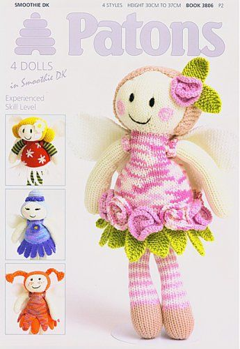 Download Patons Fairy Flower Dolls Knitting Pattern Booklet 3806