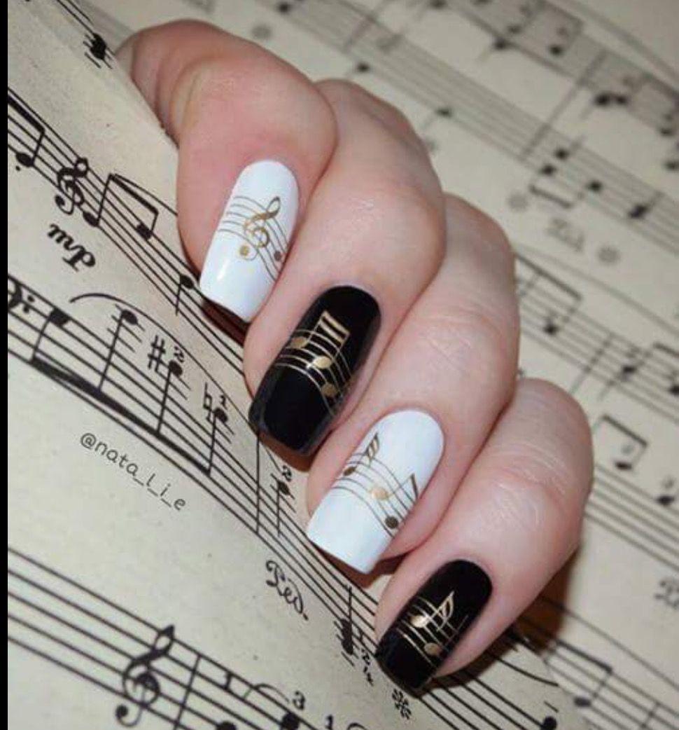 Uñas musicales | I love Music | Pinterest | Nail art hacks, Mirror ...