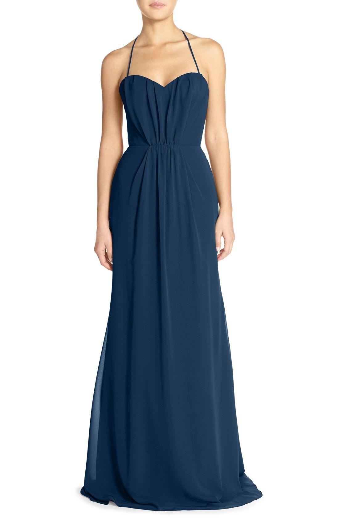 e6196fce3ef Chiffon Navy Blue Bridesmaids Dresses