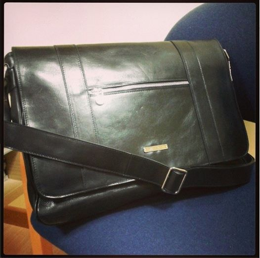 TL Dynamic TL141252 Borsa business in pelle con zip frontale - Leather business bag with front zip pocket - Tuscany Leather