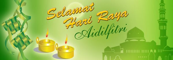 Website Banner Design For Hari Raya Aidilfitri Website Banner