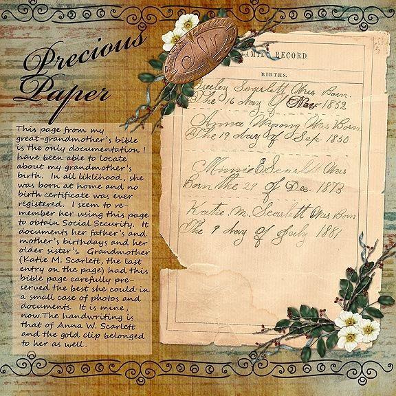precious paper scrap genealogical treasures like the family bible