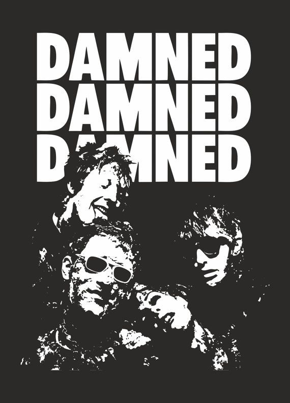 THE DAMNED band T Shirt 77 1977 England Punk by RottenLoveClothing ...