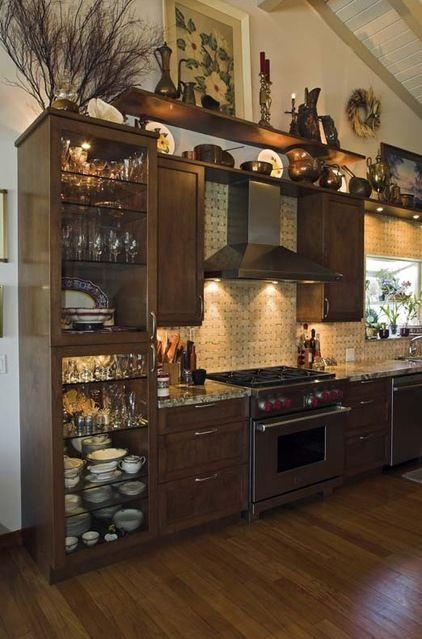 Non-Traditional Kitchen Cabinets   12 Creative Ideas for ... on Traditional Kitchen Wall Decor  id=44169