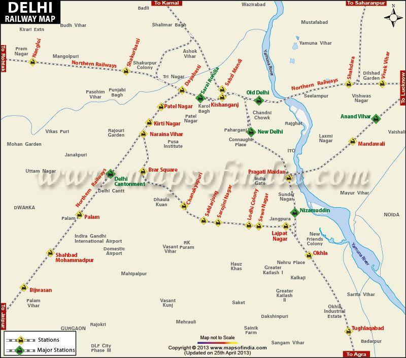 Delhi Railway Map Delhi Railway Map | Getting Around: India | Pinterest | Map, Delhi  Delhi Railway Map
