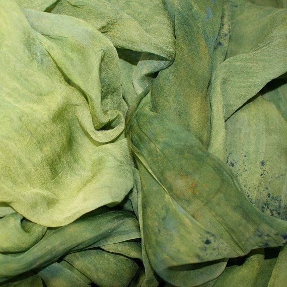 FROG POND in  Hand Dyed Silk Gauze for Nuno by kangaroodyer