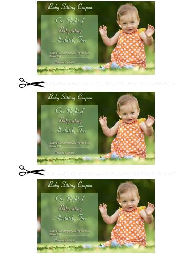 20  free printable babysitting coupon book templates