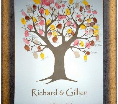 personalised wedding keepsake fingerprint tree | wedding | Pinterest ...