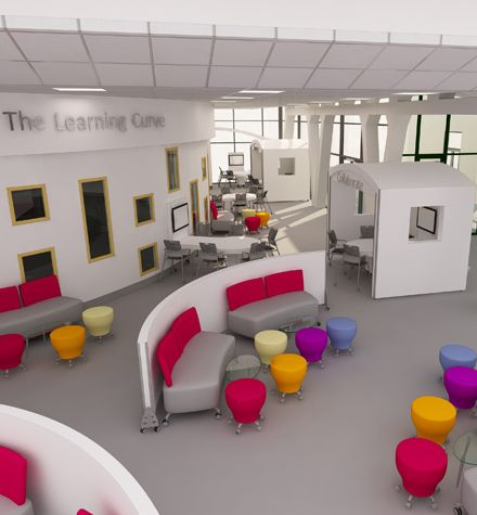LEARNING SPACE Love the movable walls and furniture to create
