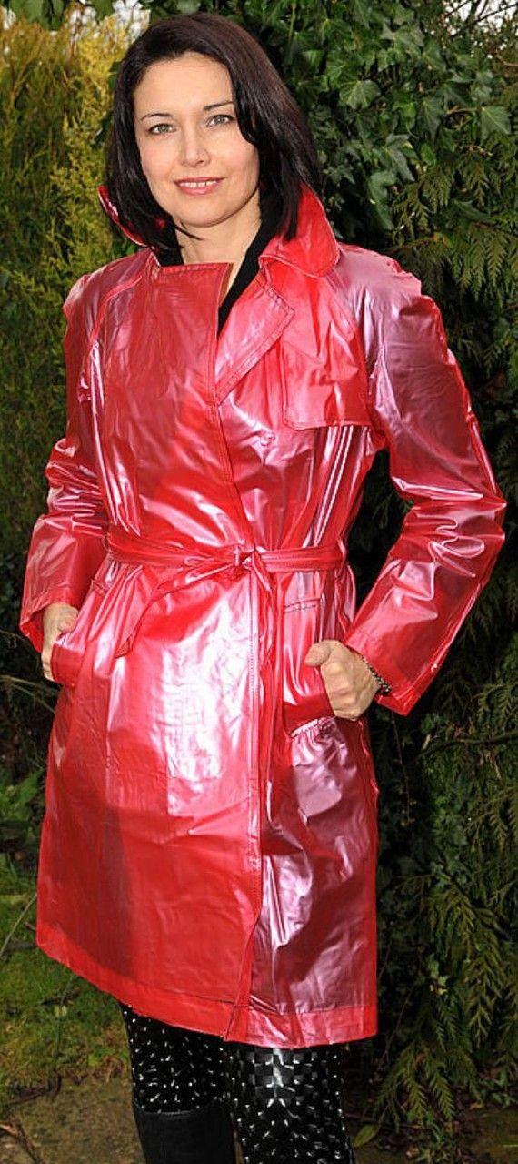 Sch 246 N Auf Taille Gebracht Rain Fashion Raincoats For