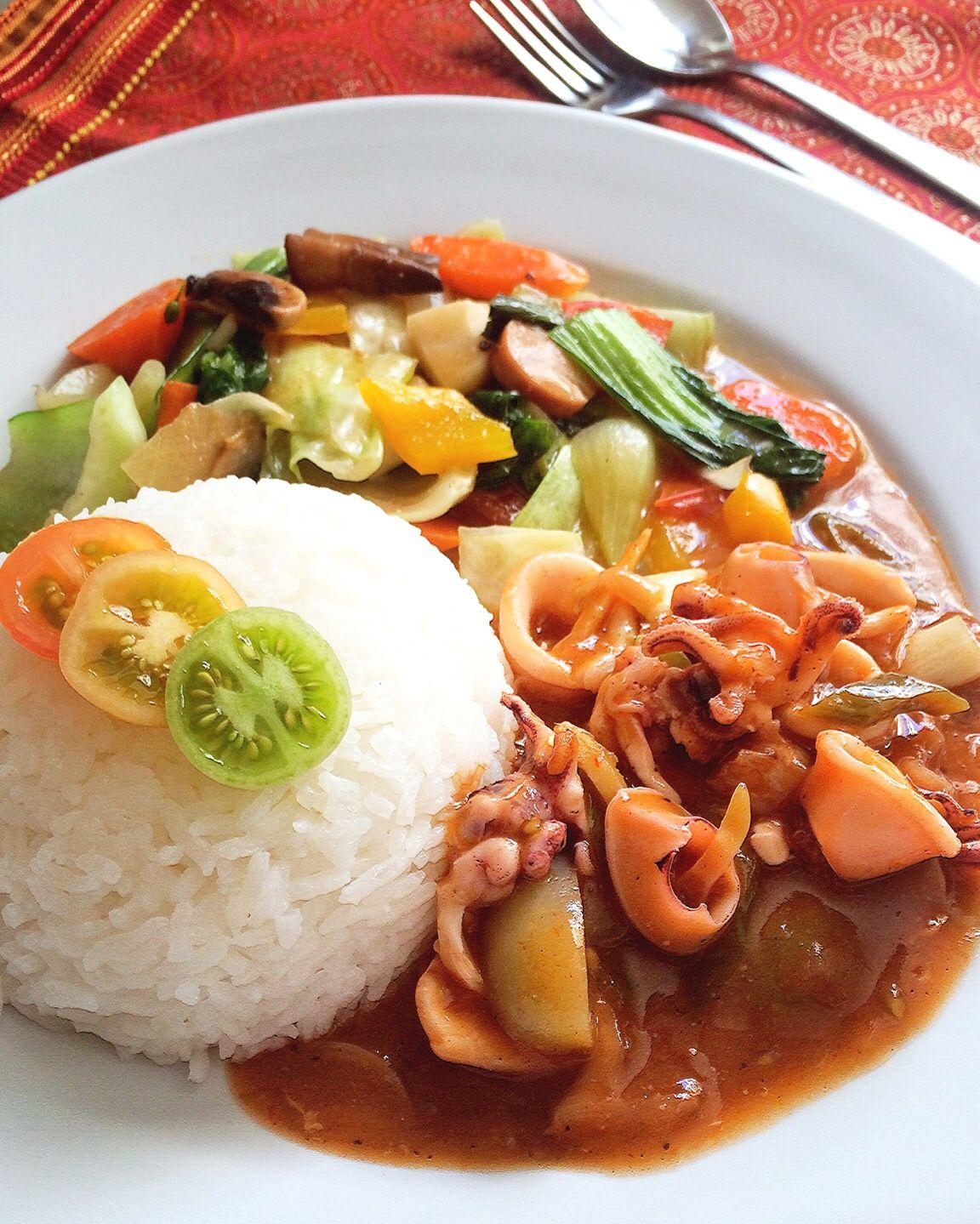 Nasi Capcay Cumi Saus Padang Ala Solaria Makanan Dan Minuman Resep Makanan