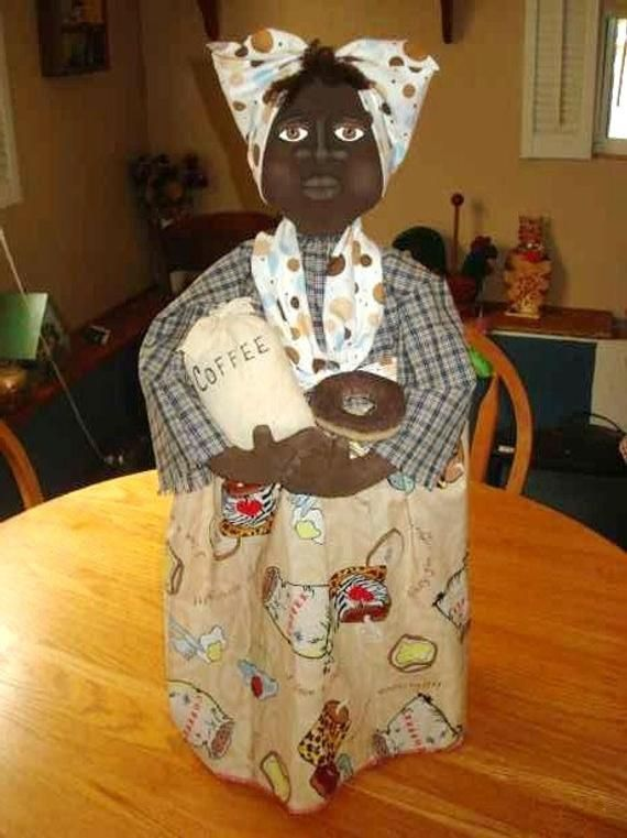Primitive DOLL PATTERN Black Folk Art Doll and Doughnut Pattern #instructionstodollpatterns