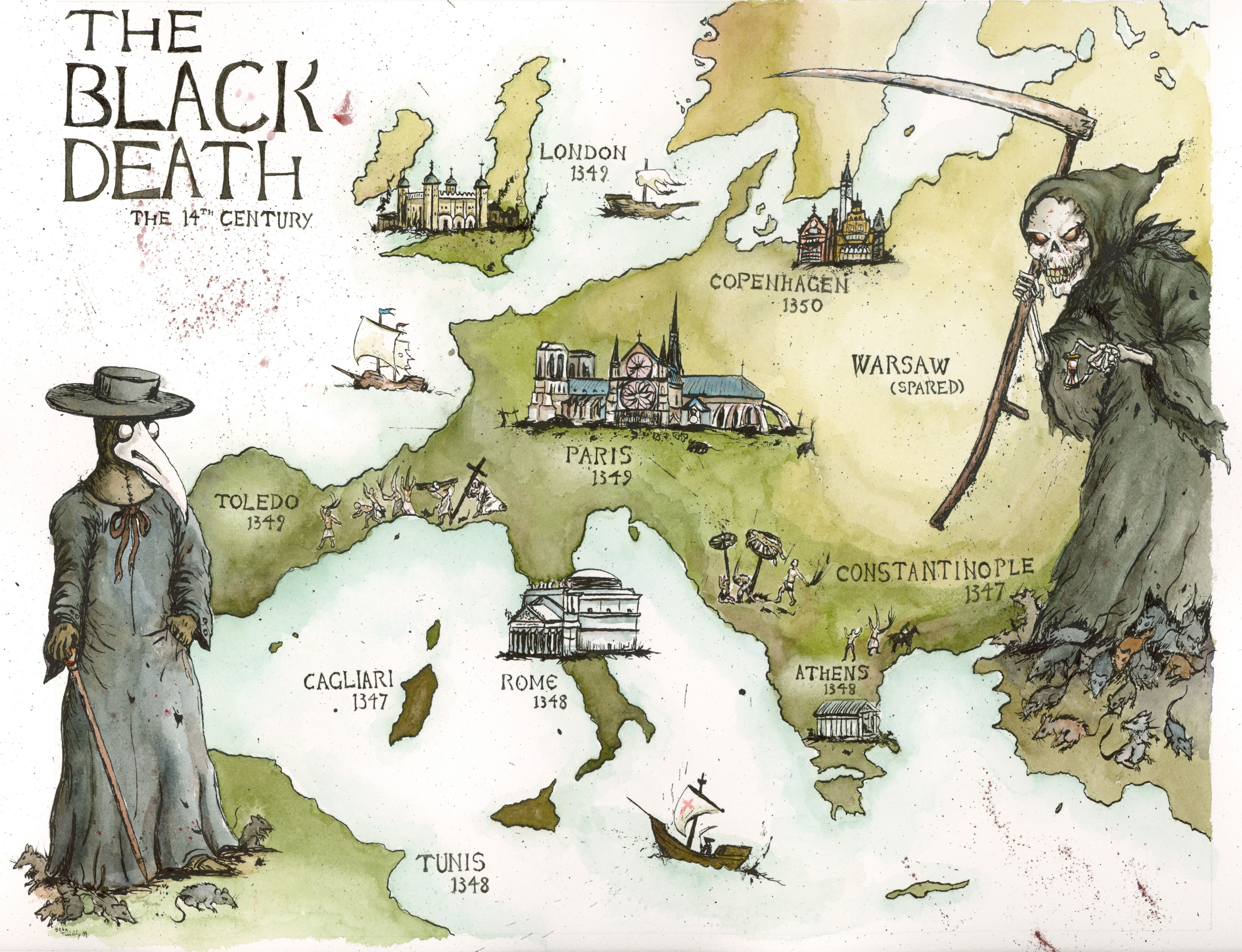 Plague_Map.jpg (4416×3386) (With images) Black death