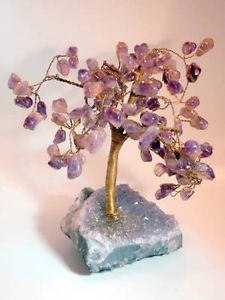 Amethyst-Bonsai-Tree of Life - This beautiful piece of art makes a lovely gift or home decor accent.  Order today - http://www.ebay.com/itm/Amethyst-Bonsai-Tree-Amethyst-Geode-base-Wire-wrapped-Tree-Life-/161403703629?pt=LH_DefaultDomain_0&hash=item259469114d #Amethyst #Geode #TreeofLife #LadyLindasLoft