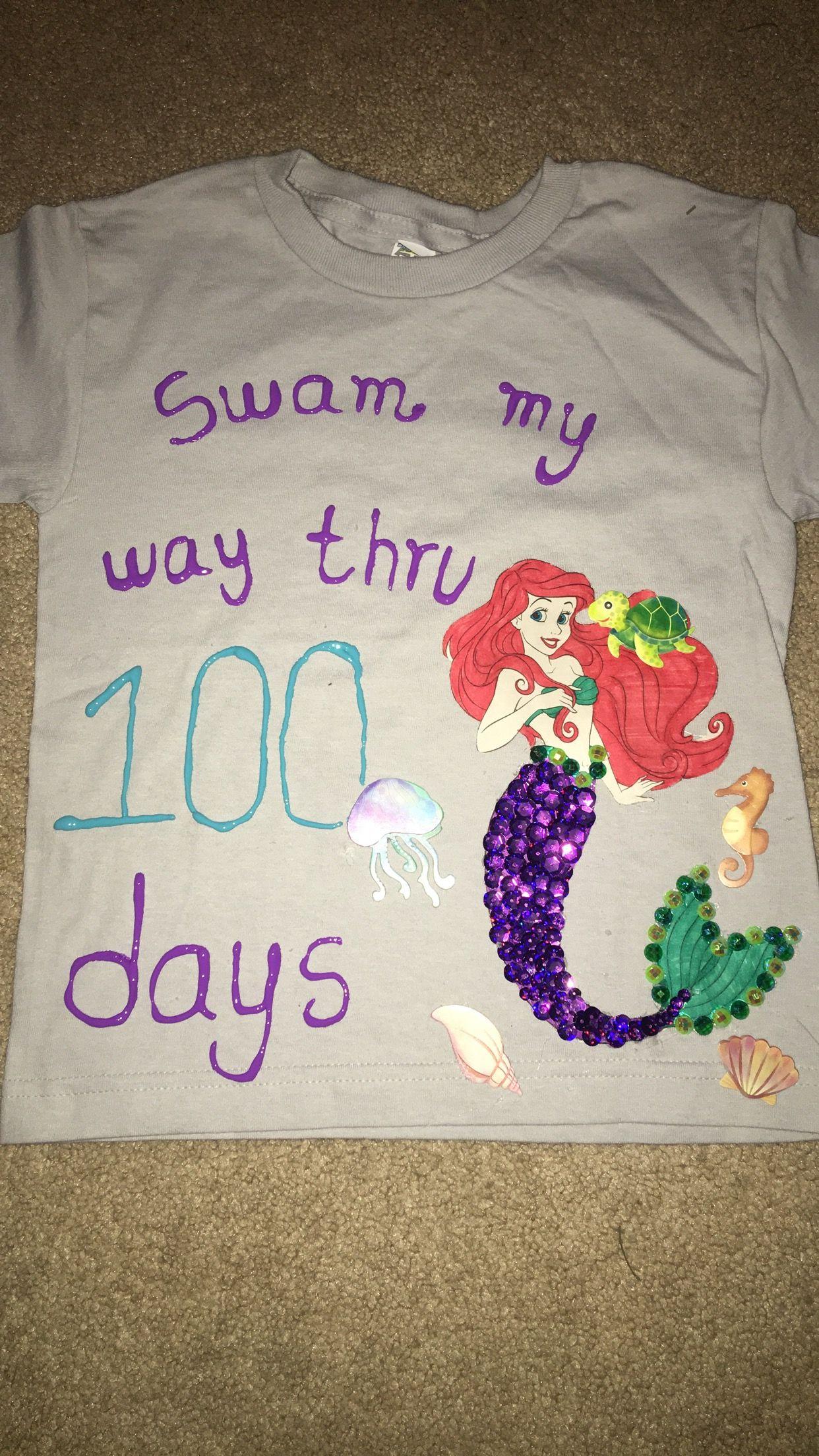 The Little Mermaid 100 Days Of School Shirt 100 Days Of School