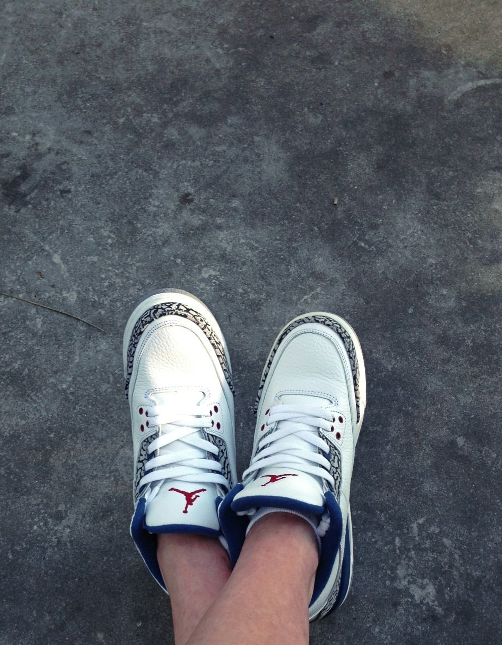 true blue 3s...J's on my feet. (With images) Chucks