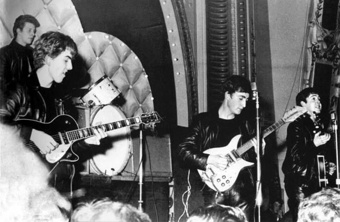 """""""In the Hamburg days we had to play so long and really rock it up and leap about and foam at the mouth and do whatever."""" – George Harrison"""