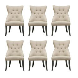 Great Daphne Beige Modern Dining Chairs (Set Of 6) | Overstock™ Shopping   Great  Deals On Baxton Studio Dining Chairs