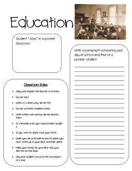 Grade 3 Pioneer Unit | Social studies, Worksheets and Homeschool