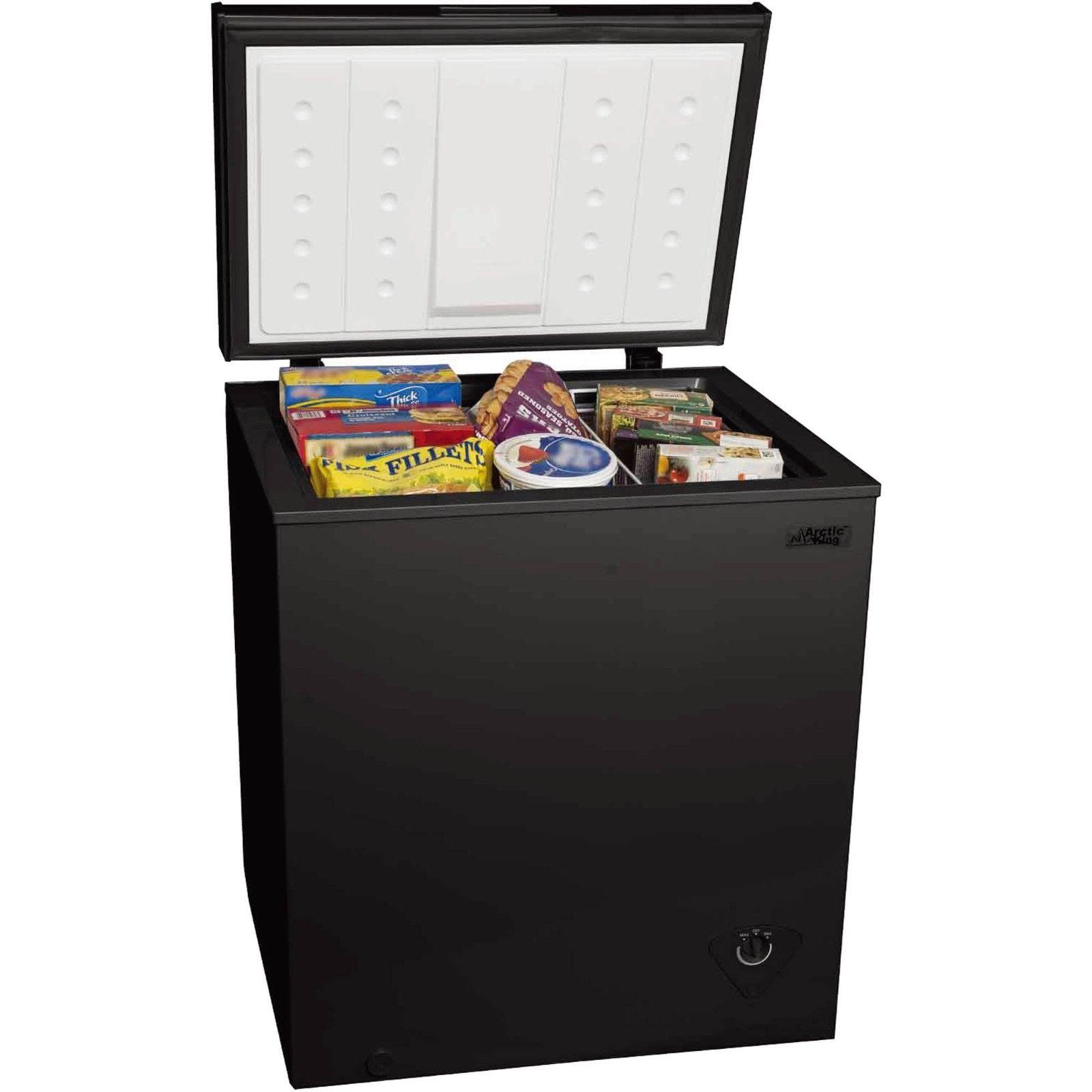 Black 50 Cu Ft Chest Freezer Compact 5 Cubic Foot Upright Arctic