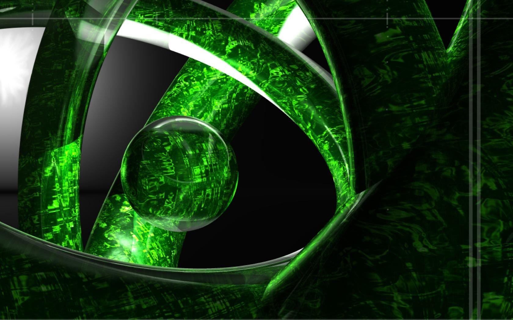 Cool Mobile 3d Wallpapers Hd: Abstract-green-things-ball-sphere-3d-artwork
