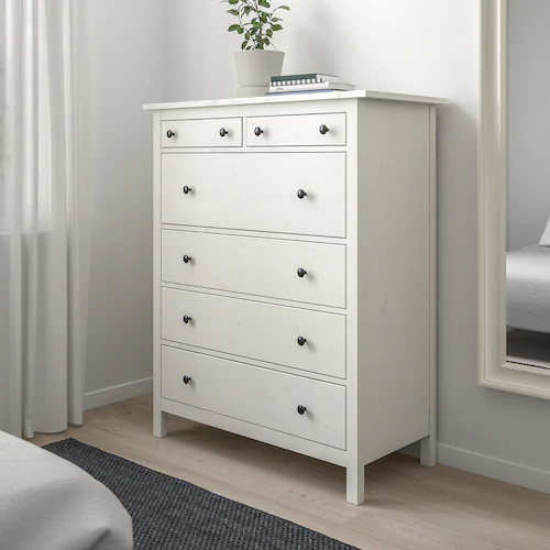 Hemnes Chest Of 6 Drawers White 108x131 Cm Ikea In 2020 Bedroom Chest Of Drawers Hemnes White Chest Of Drawers