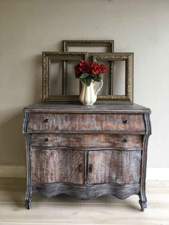 Reloved Vintage Curvy Cabinet Chalk Painted Located In Tampa