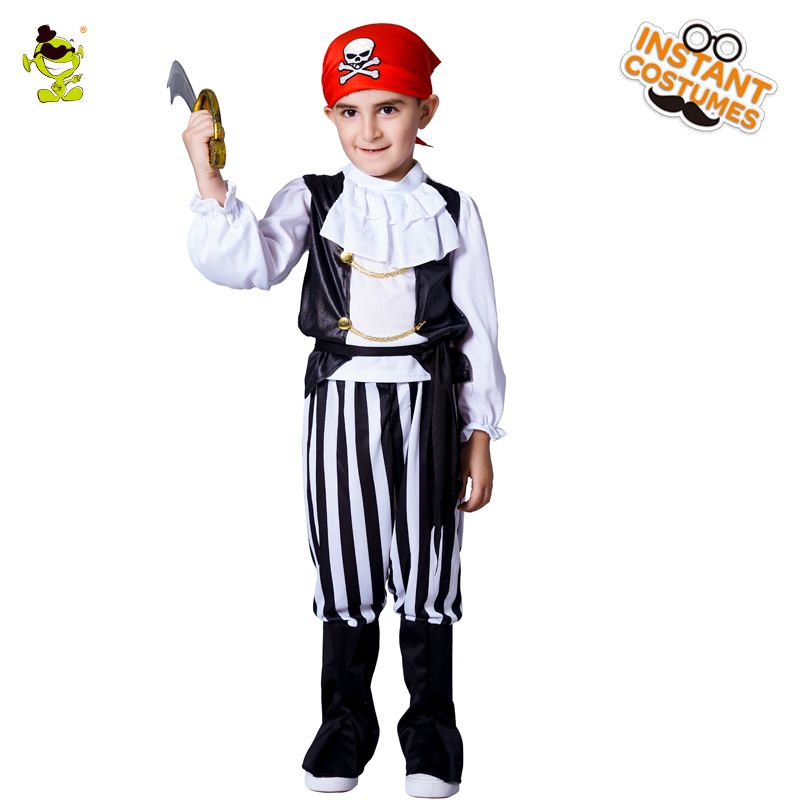 Click to Buy \u003c\u003c Hot sales Boys Cool Pirate Costumes with Red Cap - hot halloween ideas