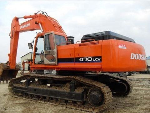 Daewoo Doosan Solar 470lc V Track Excavator Service Repair Manual Download Daewoo Repair Manuals Excavator
