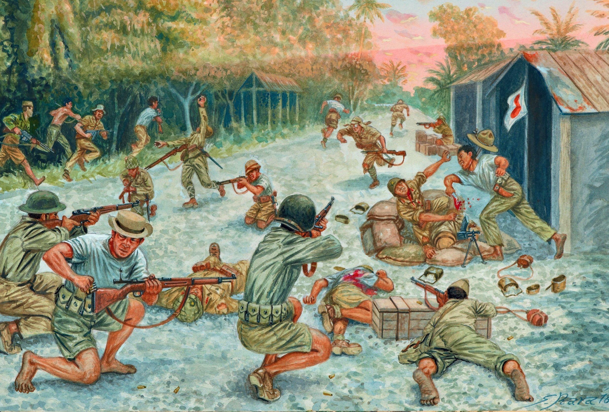 A FILIPINO GUERRILLA PATROL ATTACKS, FEBRUARY 1945 # ...
