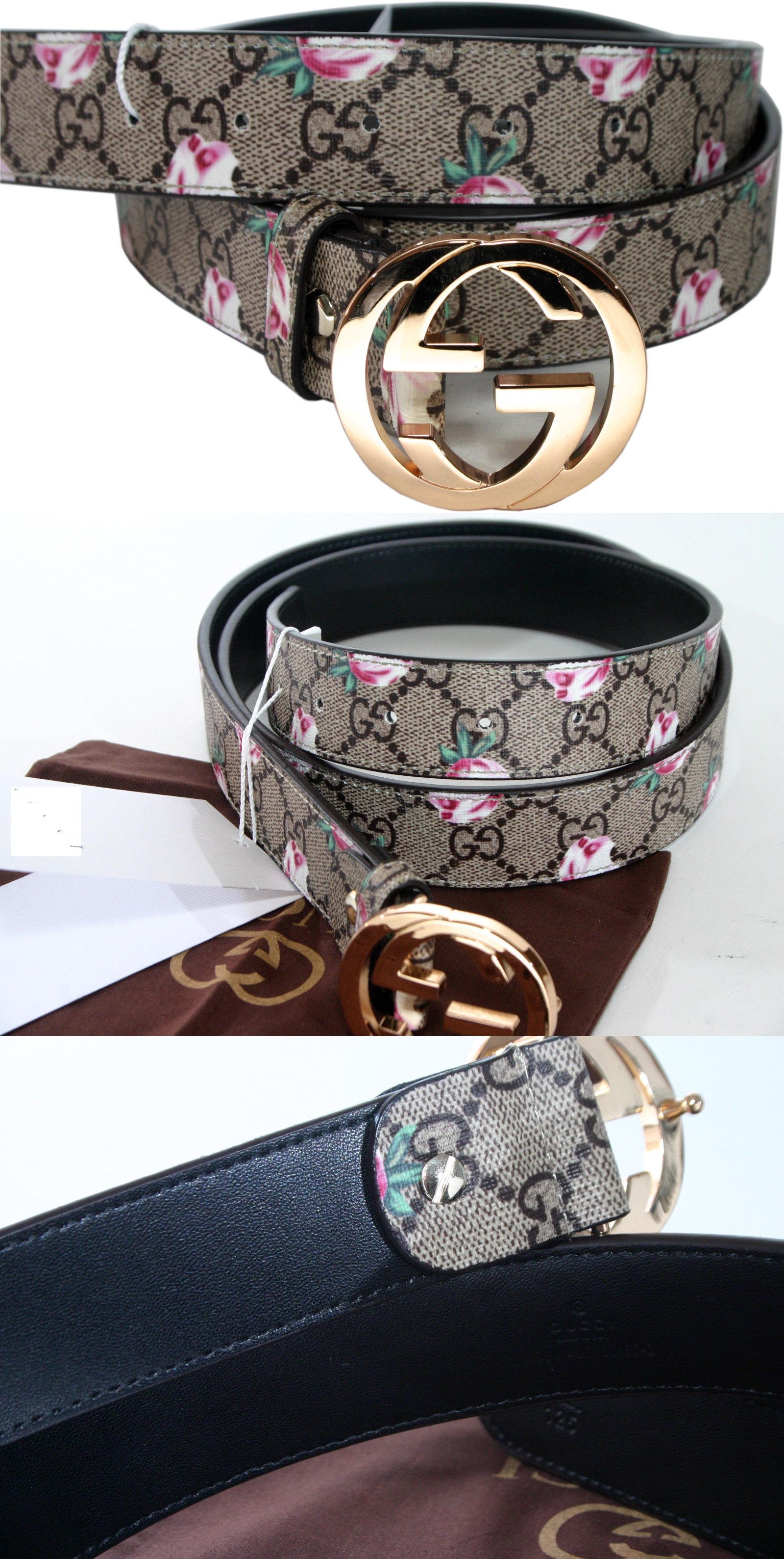 f9bfcc3968c Belts 3003  Nwt Gucci Logo Floral Women Belt All Size . Sizable -  BUY