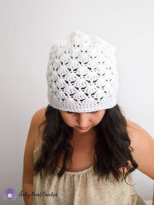 Venus Shell Slouch Hat Crochet Pattern - Free Crochet Beanie Pattern ...