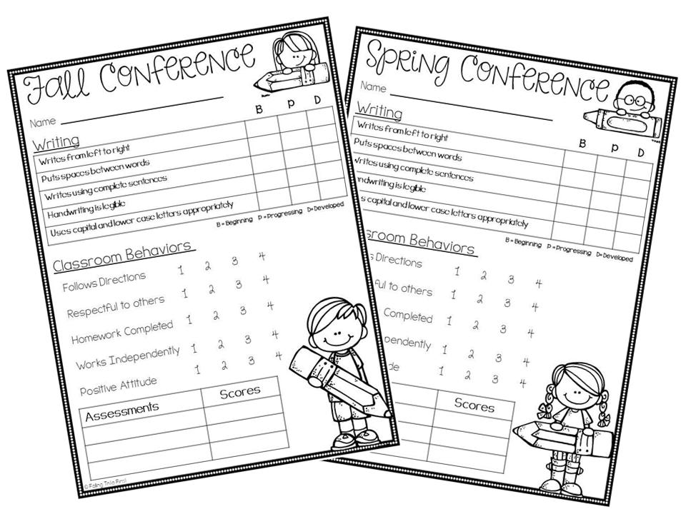 parent teacher conference forms  free