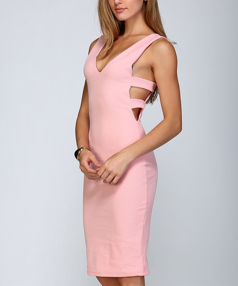 46693b49c71 ORANGE CREEK Dusty Pink Cutout Bodycon Dress Sz M NWT Weimaraner Rescue  Charity  fashion  clothing  shoes  accessories  womensclothing  dresses  (ebay link)