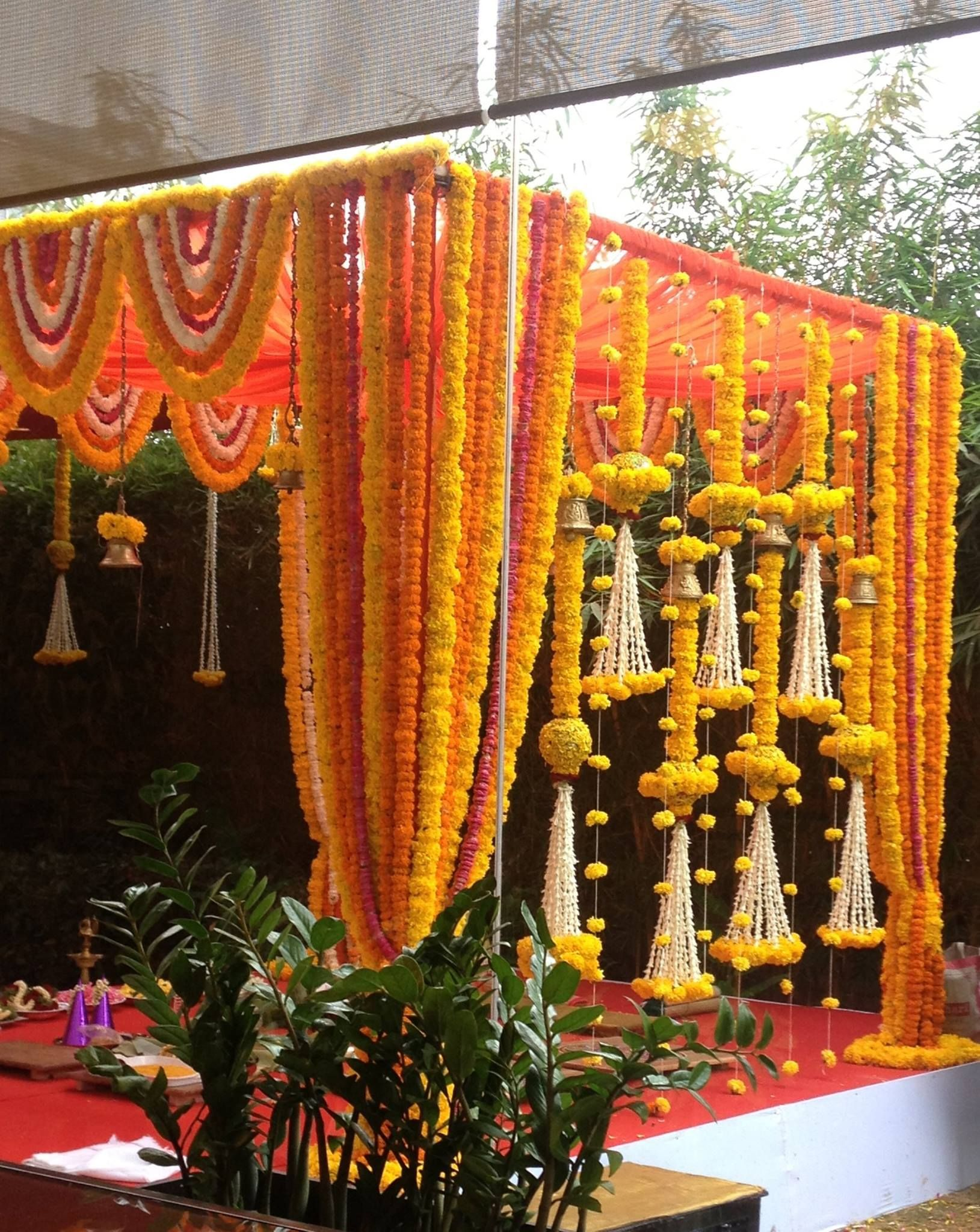 morning Mandap decor, Wedding mandap, Indian wedding