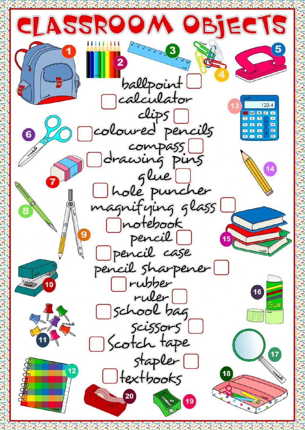 worksheet Classroom Worksheets classroom objects interactive and downloadable worksheet check 50 free esl efl worksheets made by teachers for teachers