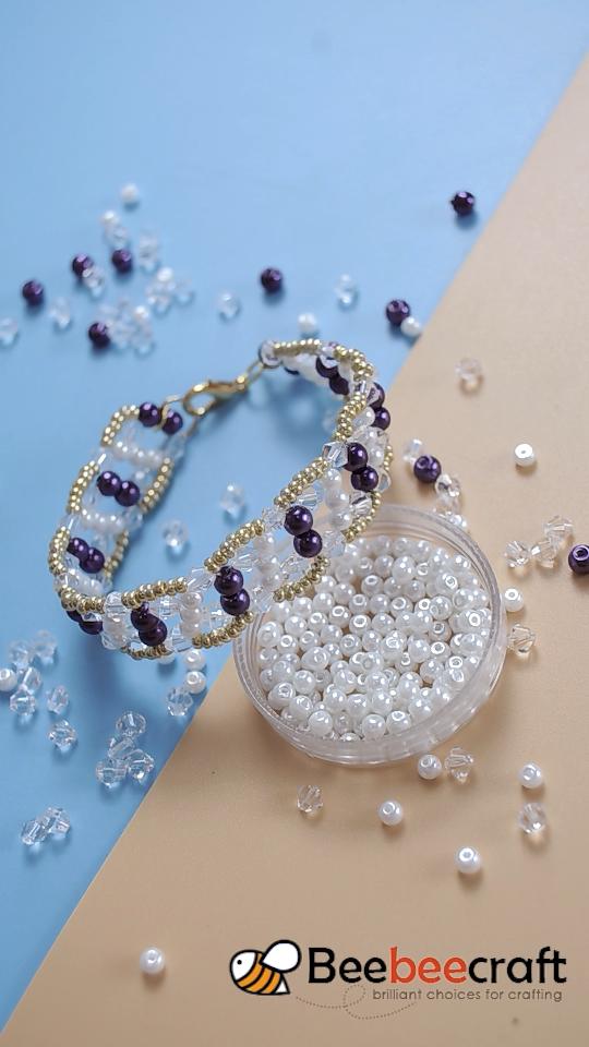 #Beebeecraft idea de hacer #bracelet con # cuentas de perlas