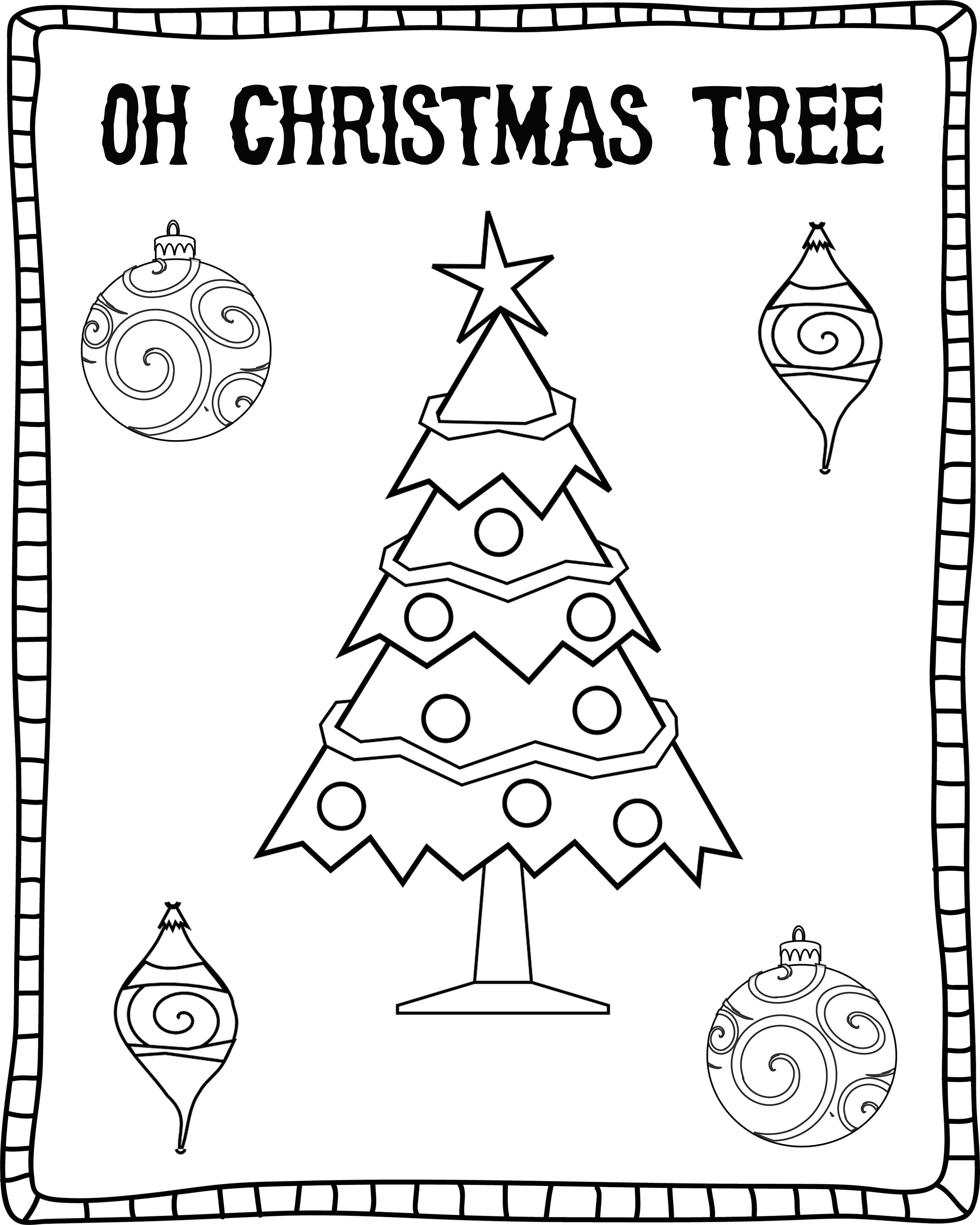 Oh Christmas Tree Coloring Sheet - Free Download ...