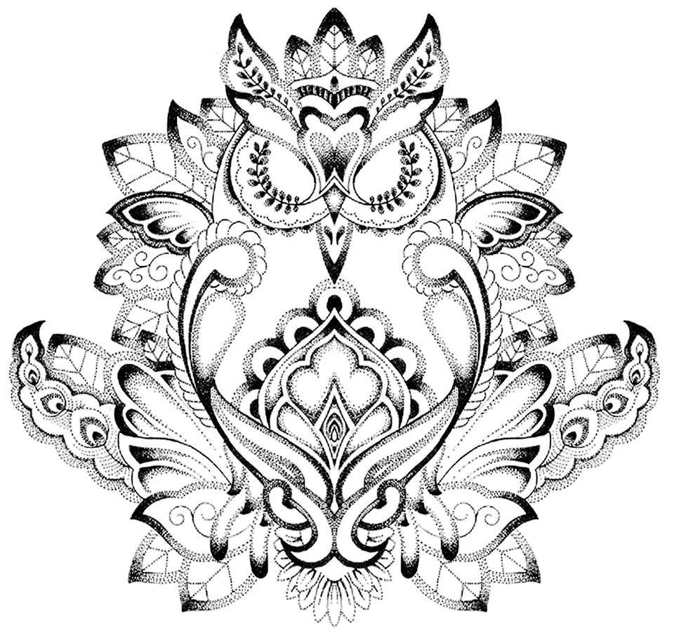 Buho Tatuaje Mandala mandala buho tattoo   tatuajes mandalas, tatuajes bonitos