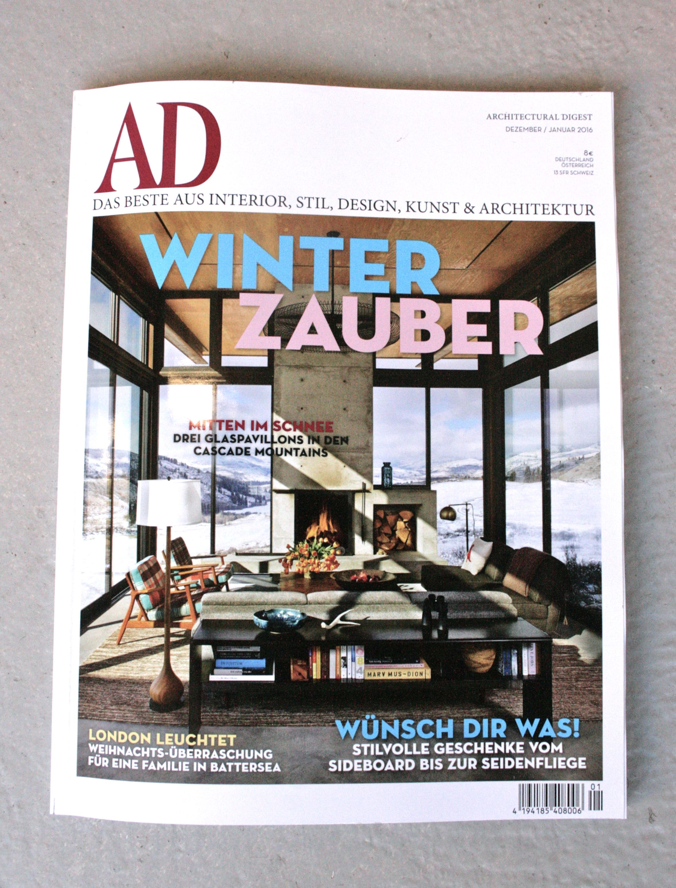 Architectural Digest Germany 2015 #andnewfurniture