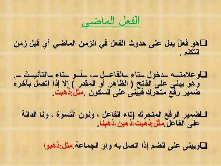 الفعل الماضي Learn Arabic Alphabet Learning Arabic Arabic Alphabet