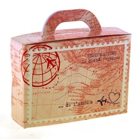 boite drag es mariage valise voyage vintage urne valise bo te drag es mariage valise. Black Bedroom Furniture Sets. Home Design Ideas