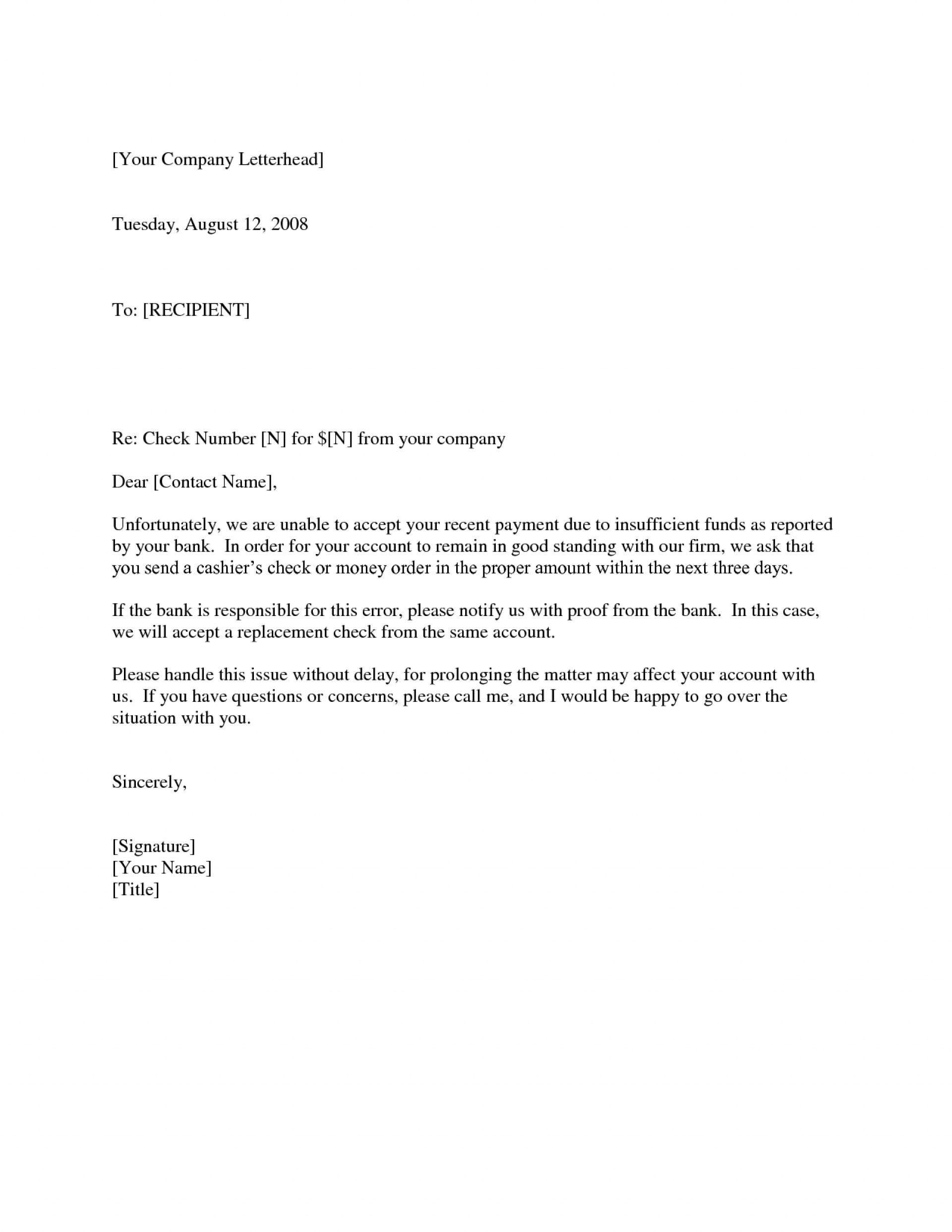 Valid Check Reissue Letter Letter Lettersample Lettertemplate