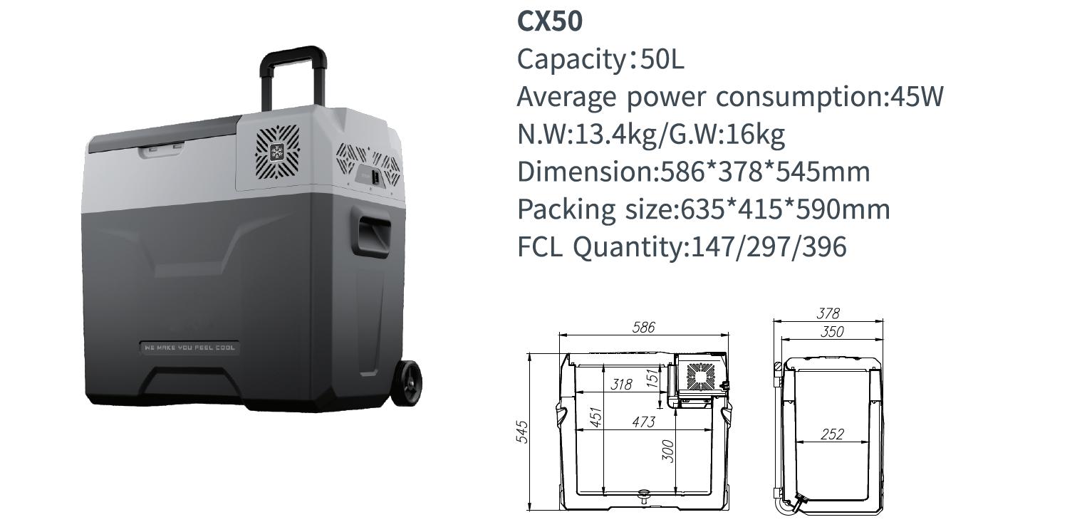 Alpicool Portable Compressor Waterproof Mini Fridge 50l Portable Compressor Mini Fridge Portable Cooler