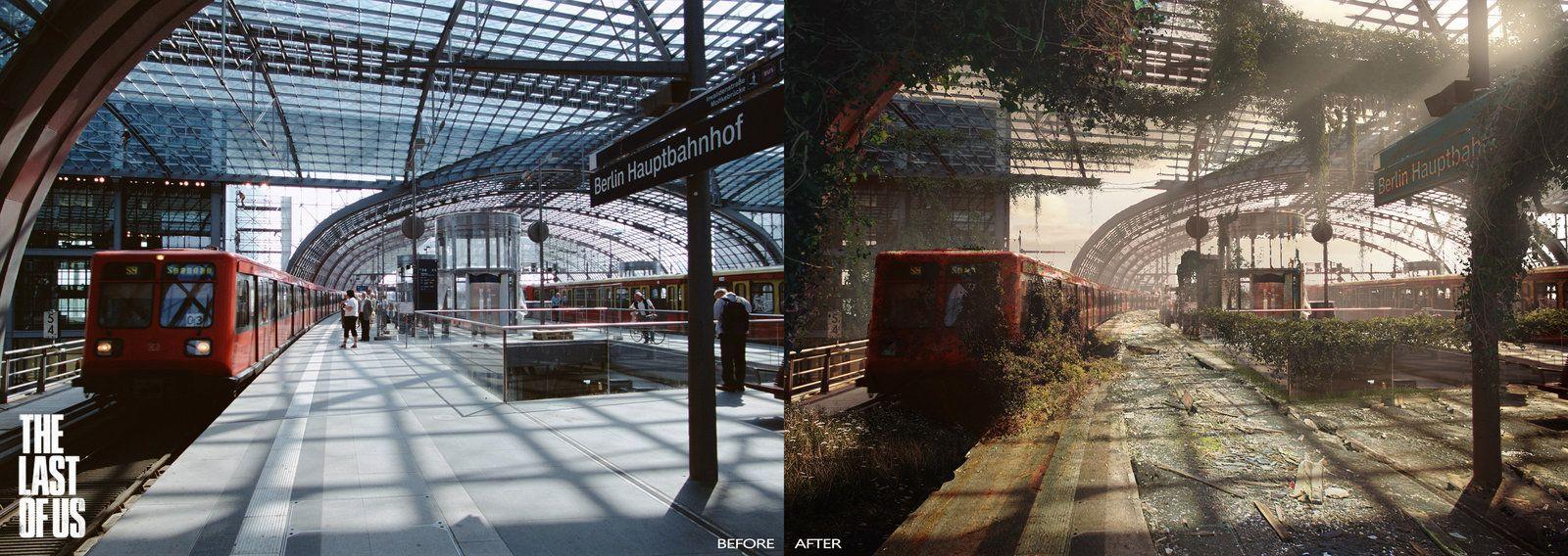The Last of Us - Berlin Central Station, John Walters on ArtStation at http://www.artstation.com/artwork/the-last-of-us-berlin-central-station