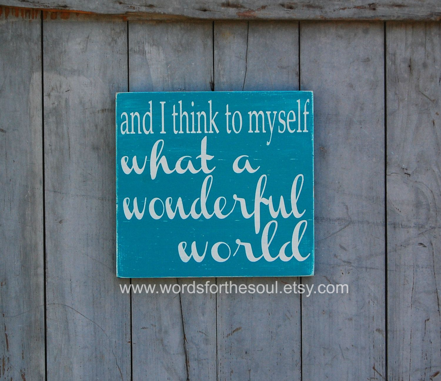 What a wonderful world sign inspirational decor wooden sign