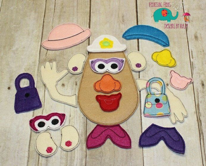Build A Potato Head Boy Game Toddler Montessori Educational Learning Toy Busy Bag Activity