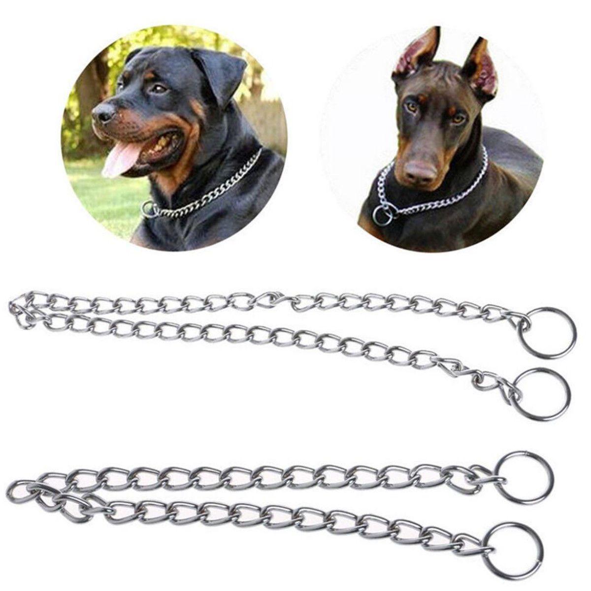152 aud pet dog puppy choke chain choker collar strong