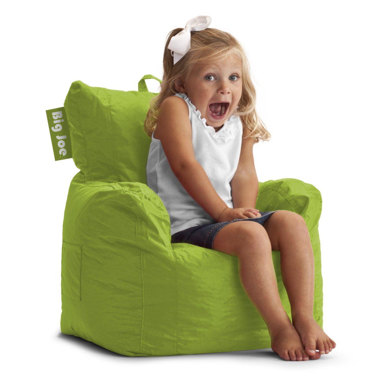 Superb Big Joe Cuddle Bean Bag Chair For Kids   Spicy Lime